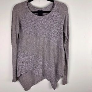 """""""Heather by Bordeaux"""" Long Sleeve, Gray Top"""